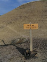painted hills - trail proceed no further sign - lorelle vanfossen